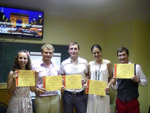 Наши выпускники центра Успех курса риторики с сертификатами
