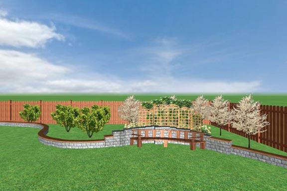 Работы выпускников курса ландшафтного дизайна учебного центра Успех, созданные в Real Time Landscaping Architect